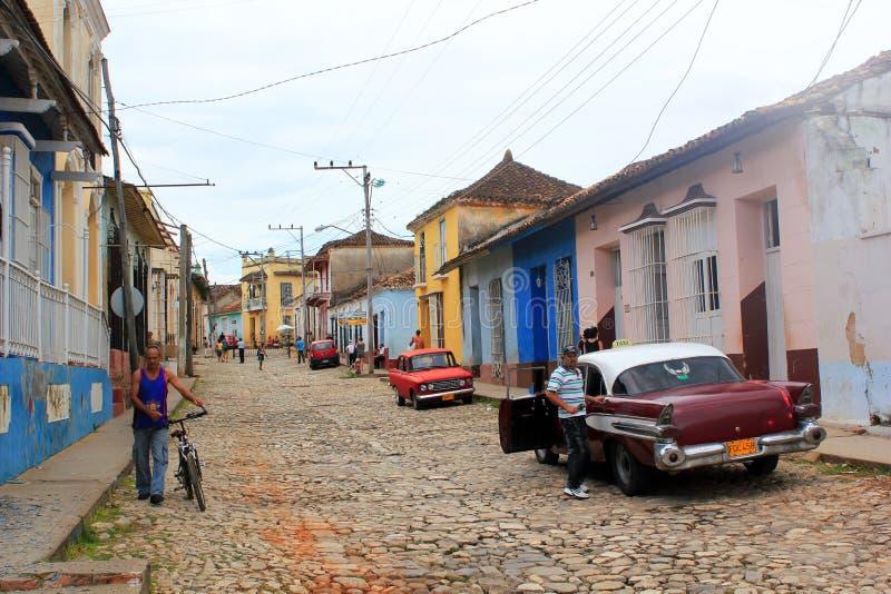 古巴街道特立尼达 图库摄影