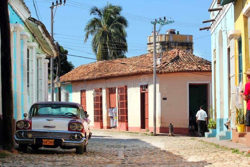 古巴街道特立尼达 免版税图库摄影