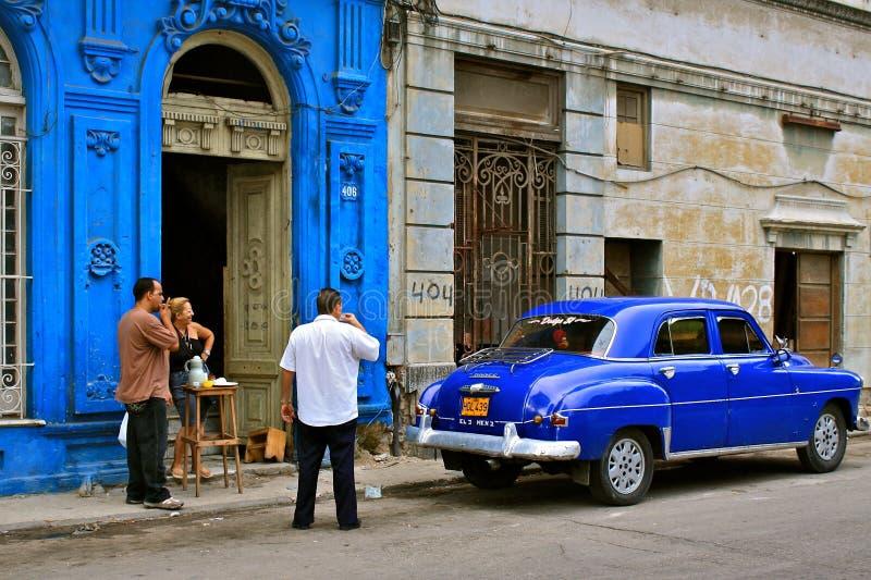 古巴街道生活 免版税库存照片