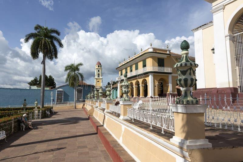 古巴,公园在特立尼达 免版税库存照片