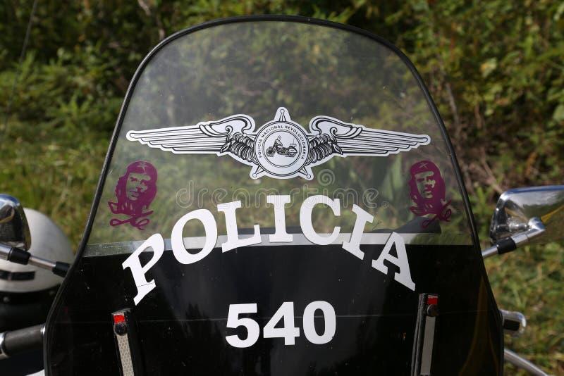 古巴,警察Motocycle 免版税库存图片