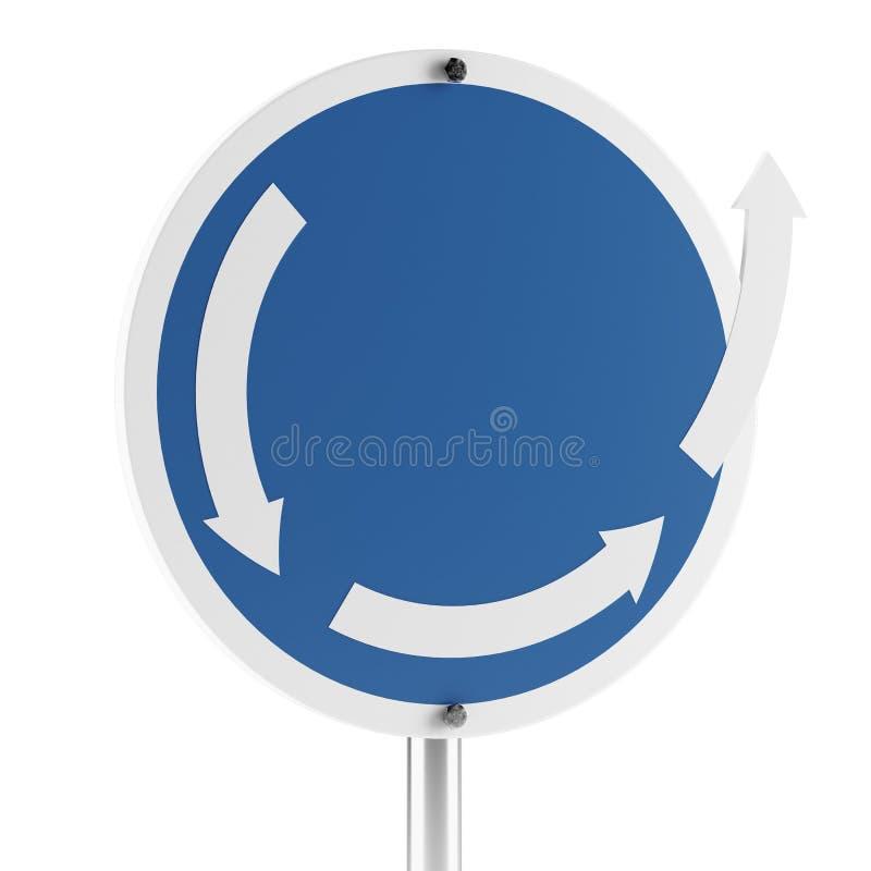 另一个环形交通枢纽符号 皇族释放例证