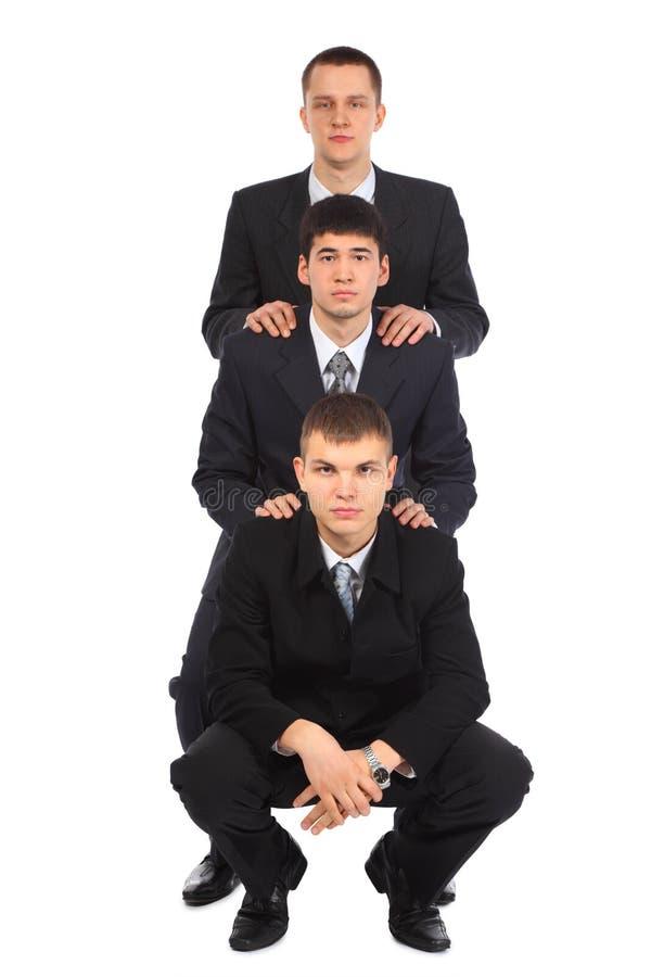 另一个生意人一三个年轻人 库存照片