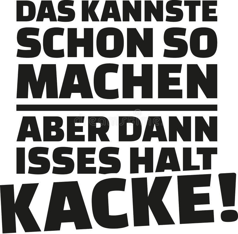 另一方面您可能做它那个方式,但是它去的` s穷 德国说法 库存例证