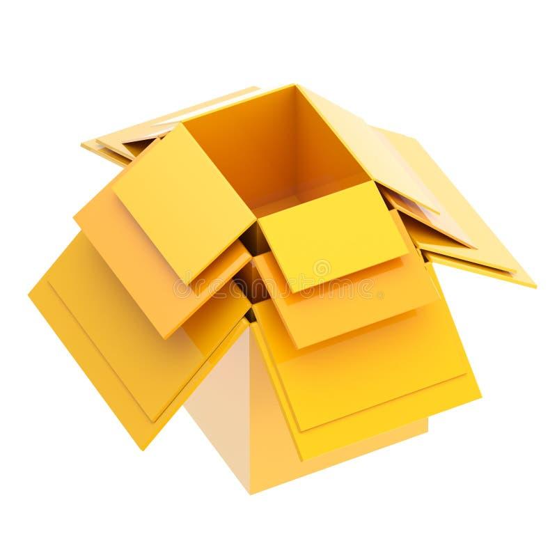 另一配件箱纸板里面一集 库存例证