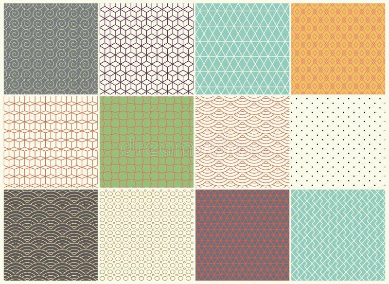 另外传染媒介无缝的样式收藏 不尽的纹理可以为墙纸,纺织品,样式积土,网使用 向量例证