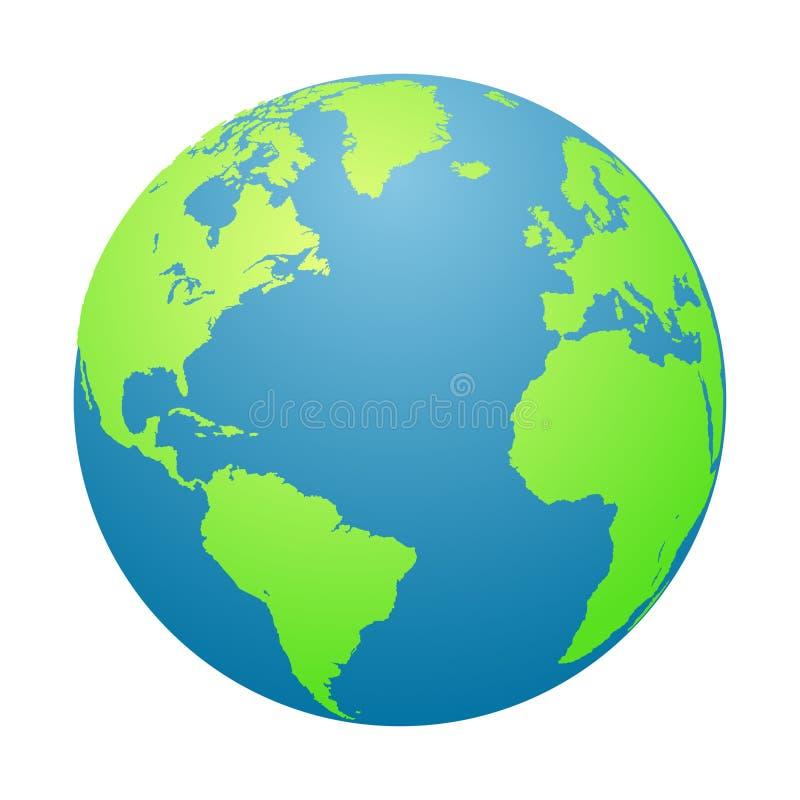 另外地球例证向量查看世界 行星地球在白色背景中 也corel凹道例证向量 库存例证
