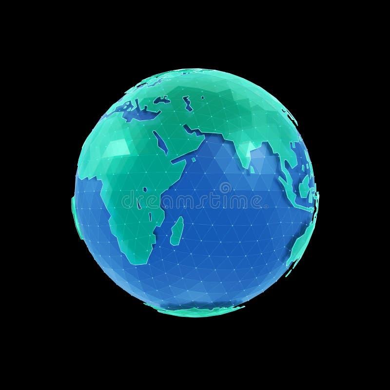 另外地球例证向量查看世界 向量例证