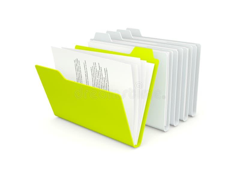 另外文件夹绿色一行 向量例证