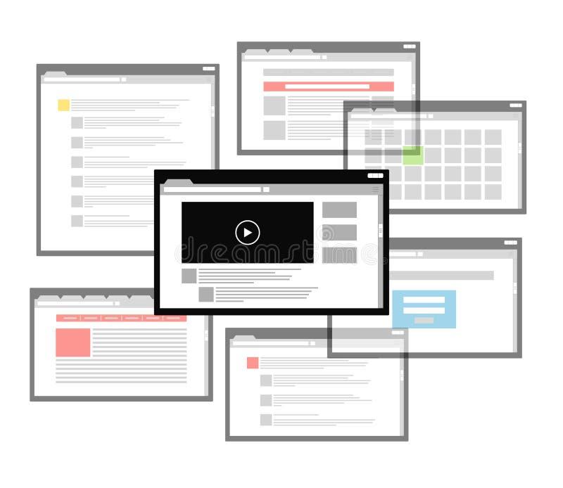 另外浏览器视窗计划 向量例证