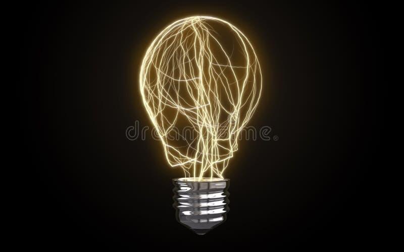 另外电灯泡 库存图片