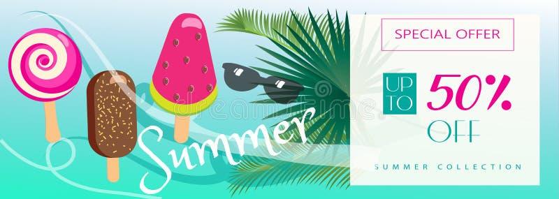 另外的背景是蓝色蝴蝶装生动被更改的标志格式销售额天空夏天的星期日于罐中 向量例证