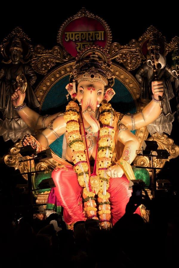 叫作加内什或Ganapati的印度上帝 免版税库存照片