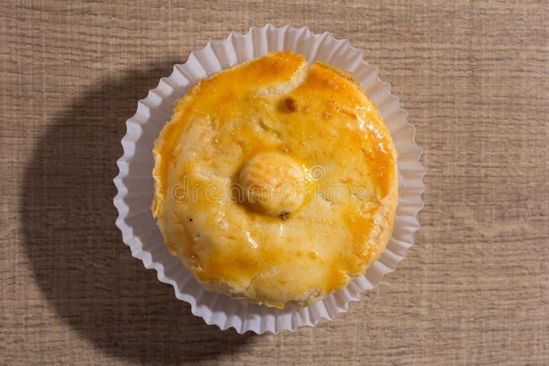 叫作Empada的被充塞的鸡饼在葡萄牙和巴西 一 库存图片