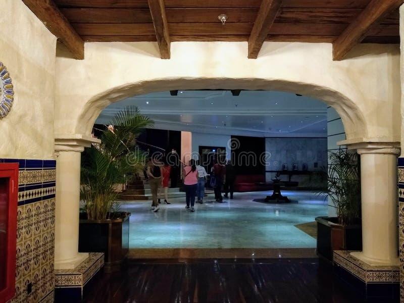 叫作tasca的西班牙餐馆在加拉加斯委内瑞拉,苦楝根皮加拉加斯旅馆 库存图片