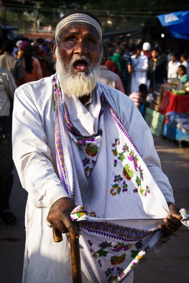 叫化子瞎的印度 免版税库存图片