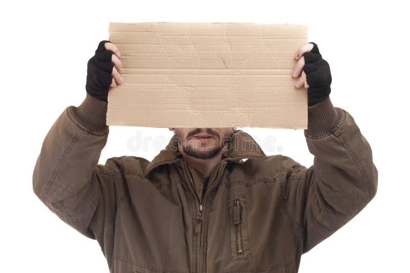 叫化子纸盒藏品 免版税库存图片