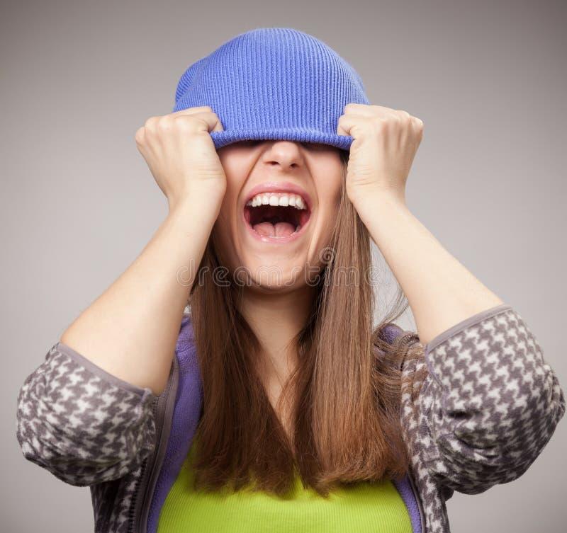 叫喊的女孩 免版税库存图片