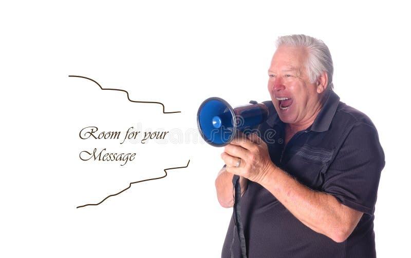 叫喊的教练指示 库存图片