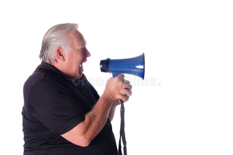 叫喊的教练指示 库存照片