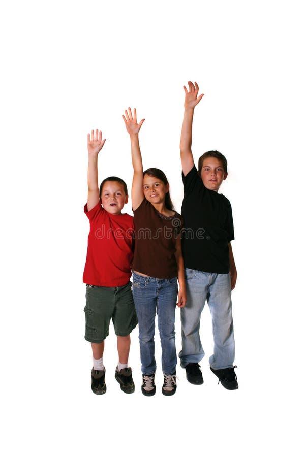 叫对希望的孩子 免版税库存照片
