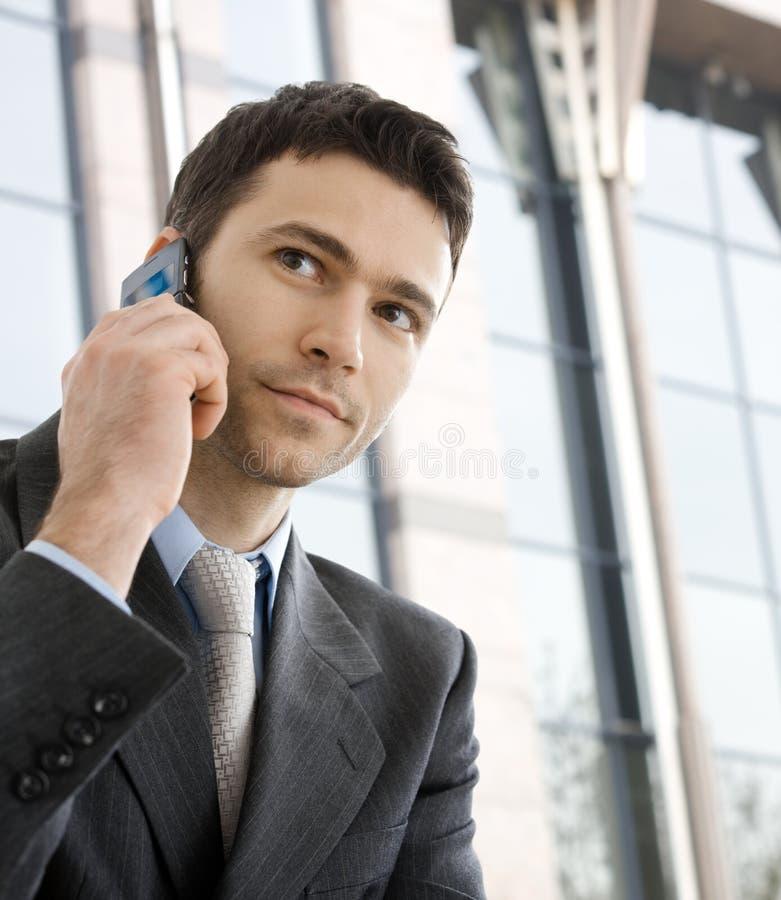 叫的生意人电话 库存图片