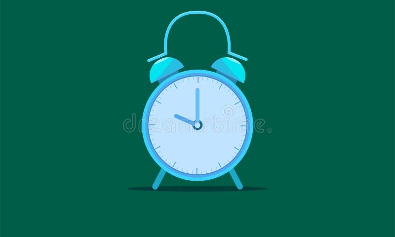 叫醒时钟蓝色口气传染媒介例证eps10 皇族释放例证