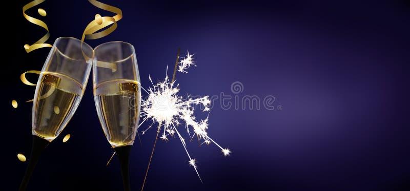 叮当声玻璃-新年` s伊芙/庆祝 免版税库存照片