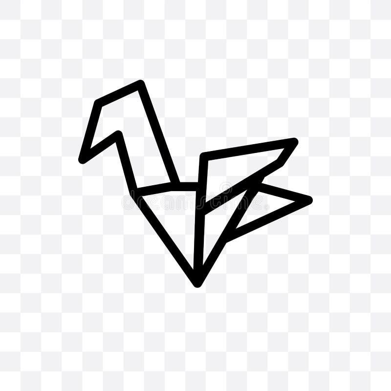 可以使用在透明背景隔绝的圣诞节Origami传染媒介线性象,圣诞节Origami透明度概念,为了我们 库存例证