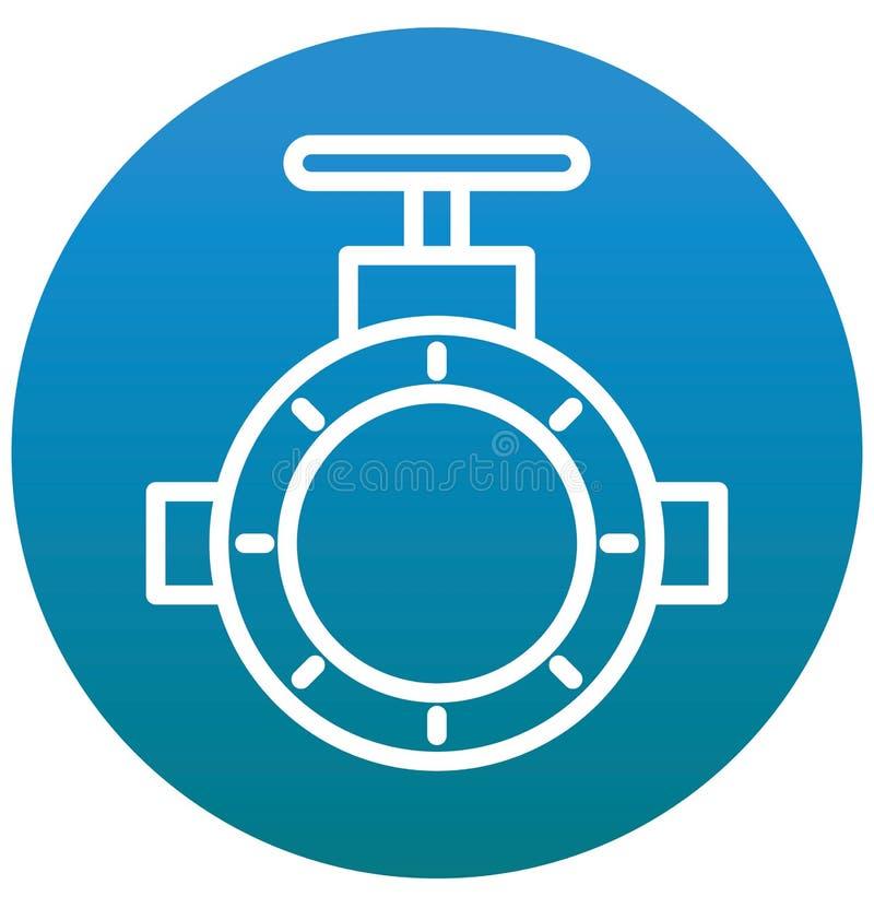 可以容易地修改主要管道,管子阀门被隔绝的传染媒介象或编辑 库存例证