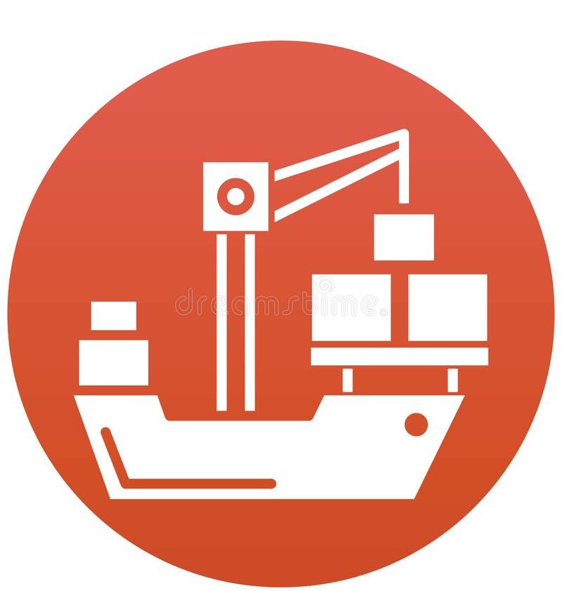 可以容易地修改货物,起重机传染媒介象象或编辑 向量例证