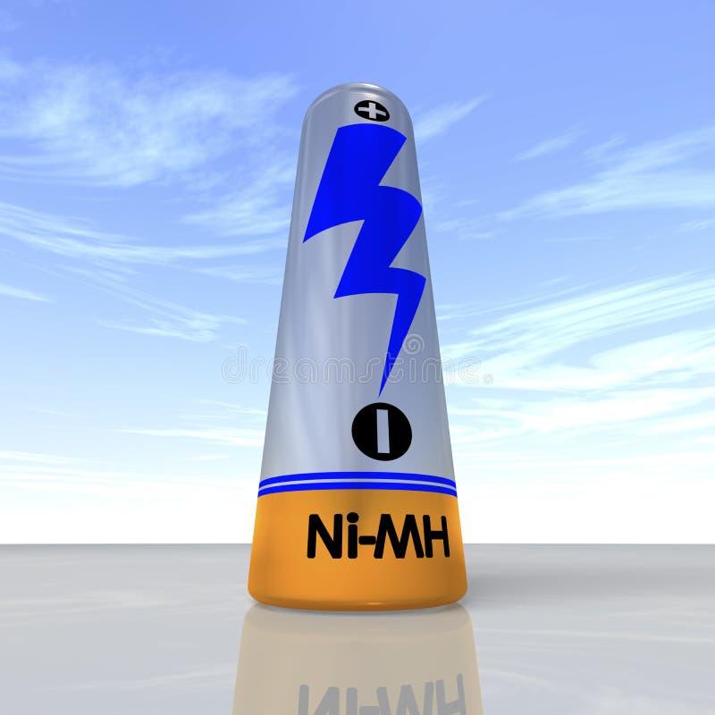 可再充电的电池选拔 皇族释放例证