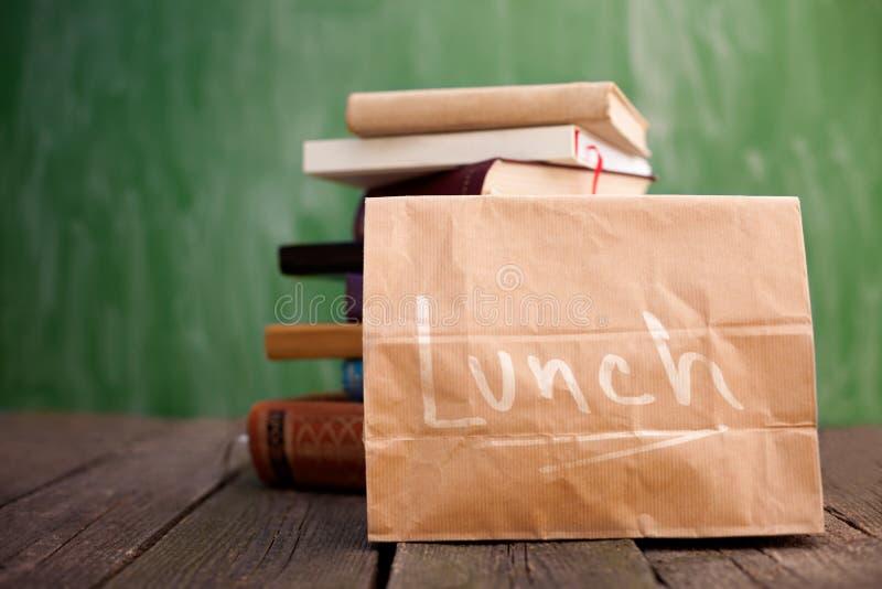 可再用的午餐袋子 免版税库存图片