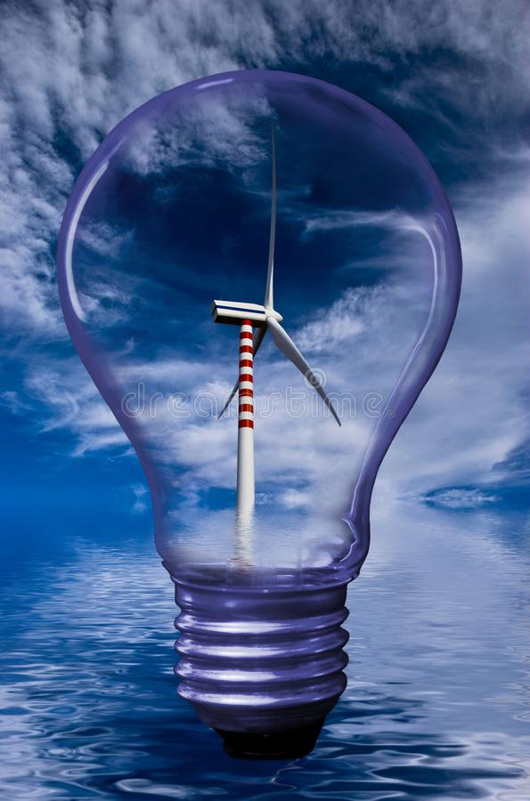 可再造能源和可持续发展 图库摄影