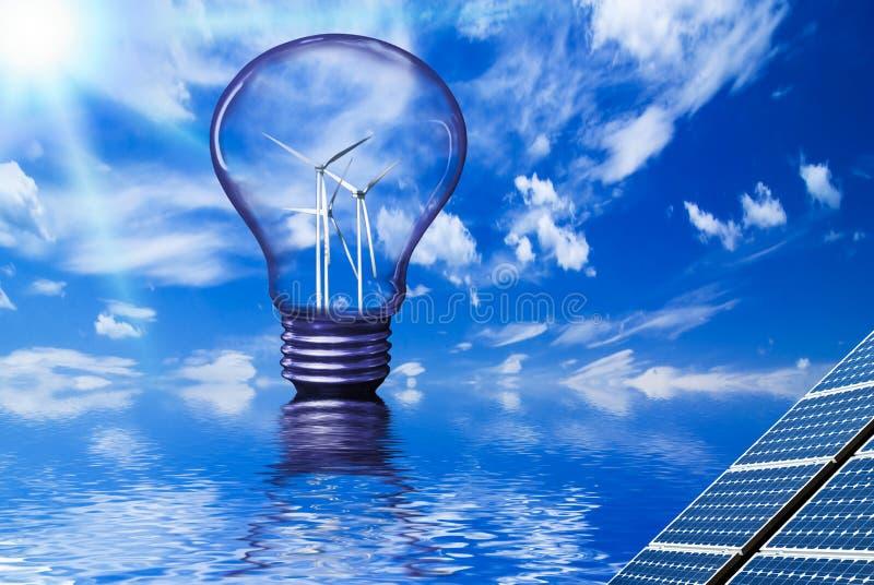 可再造能源和环境 免版税库存照片