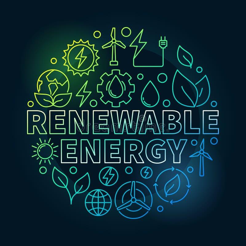 可再造能源圆的五颜六色的例证 库存例证