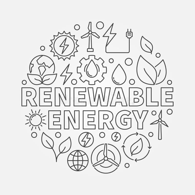 可再造能源圆的概述例证 皇族释放例证