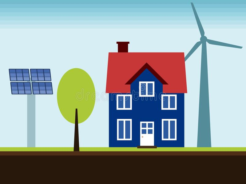 可再造能源家 库存例证