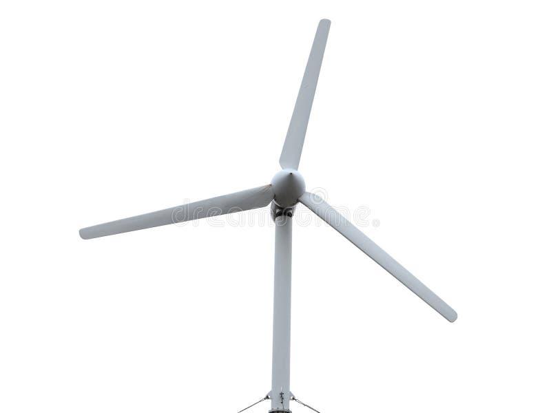 可再造能源概念风轮机被隔绝在白色backgr 图库摄影