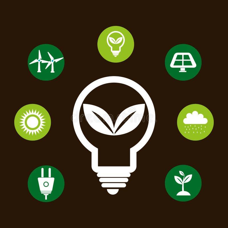 可再造能源设计 库存例证