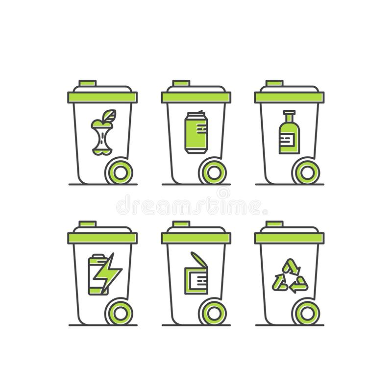 可再造能源,能承受的技术,回收,生态解答 向量例证