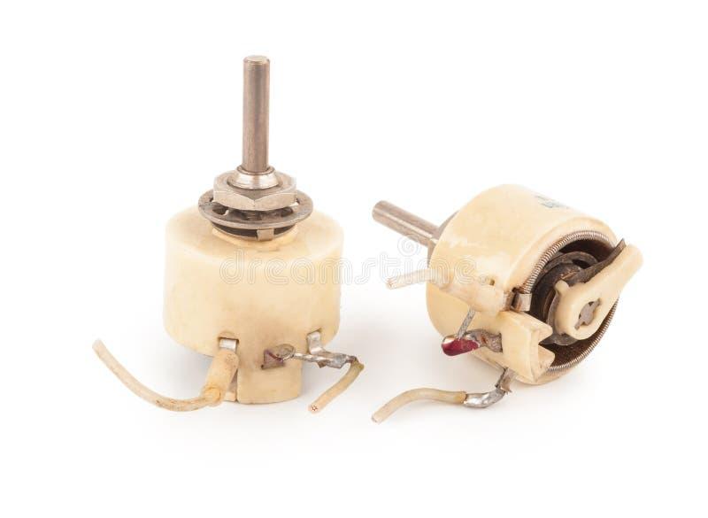 可变电阻器 库存图片