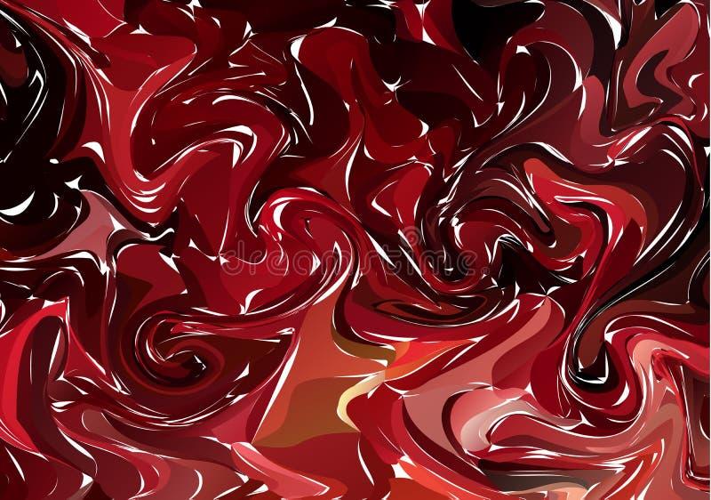 可变的五颜六色的形状背景 多红色时髦梯度 流体塑造构成 抽象现代液体漩涡大理石飞行物 库存例证