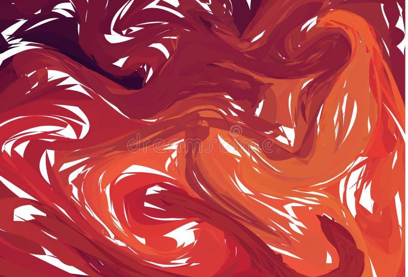 可变的五颜六色的形状背景 红色时髦梯度 流体塑造构成 抽象现代液体漩涡大理石飞行物设计 向量例证