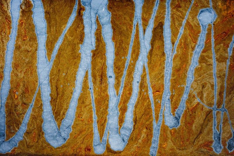 可变的抽象液体艺术 丙烯酸酯的污迹 免版税图库摄影