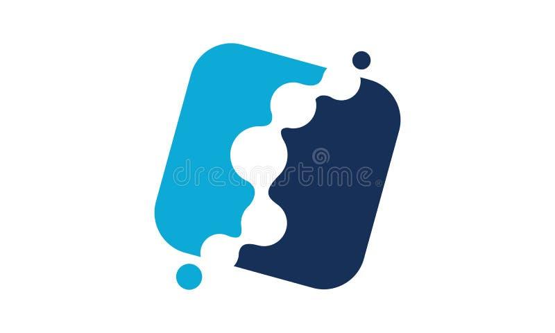 可变的按摩脊柱治疗者商标设计模板 库存例证