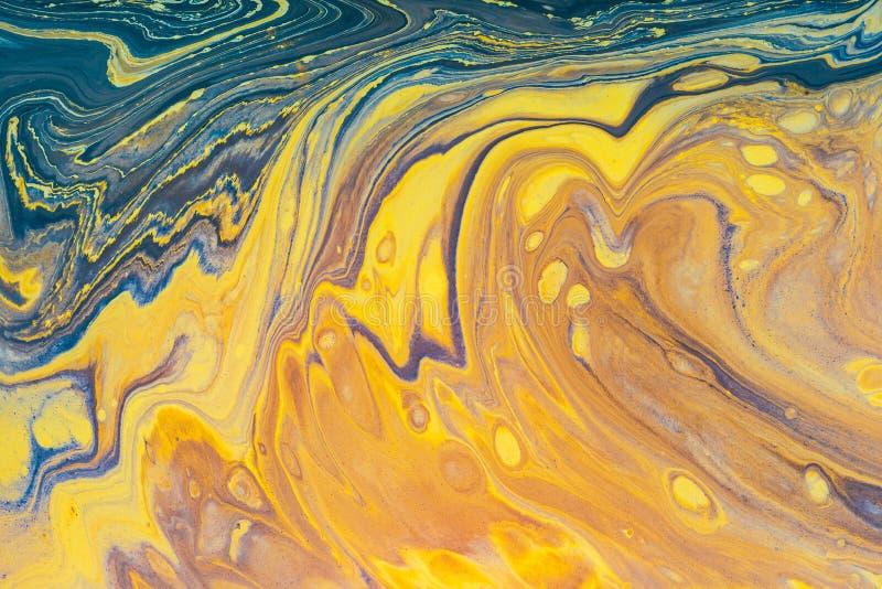 液体丙烯酸酯 可变的艺术颜色污点 库存图片