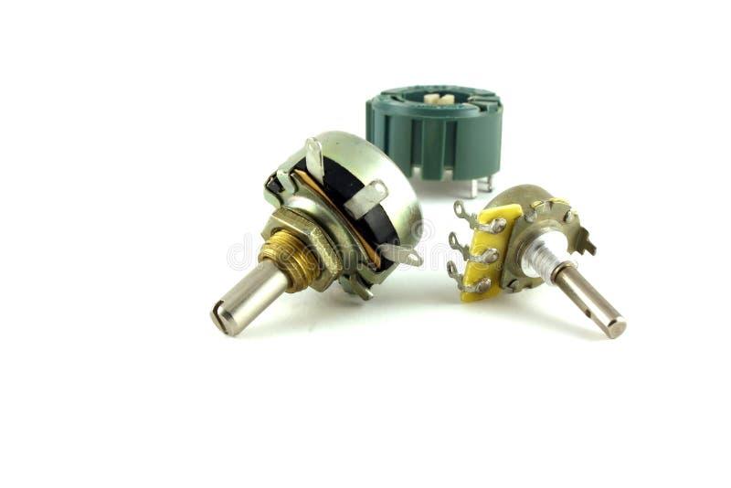 可变要素电子的电阻器 库存图片