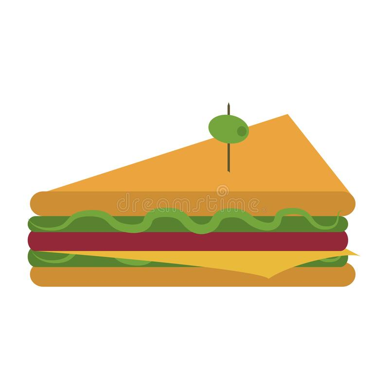 可口三明治食物 皇族释放例证