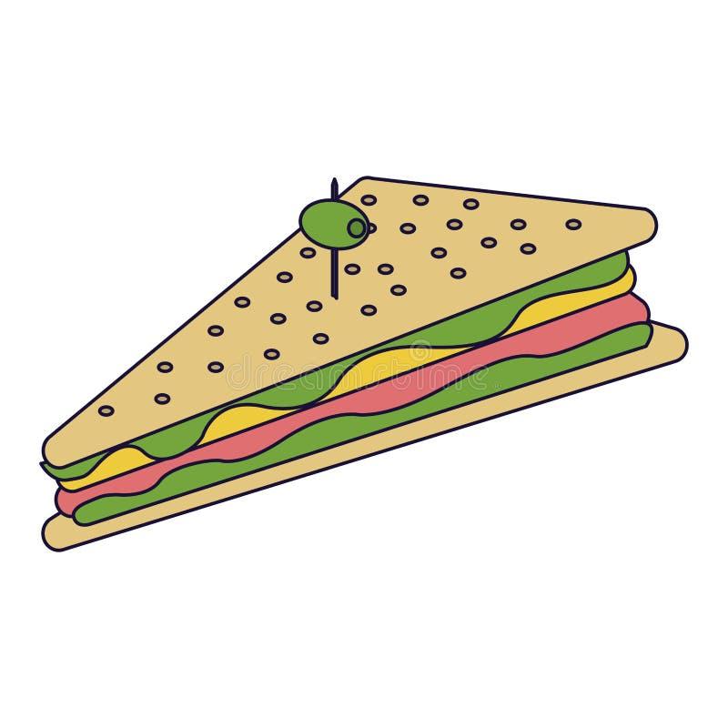 可口三明治食物 库存例证